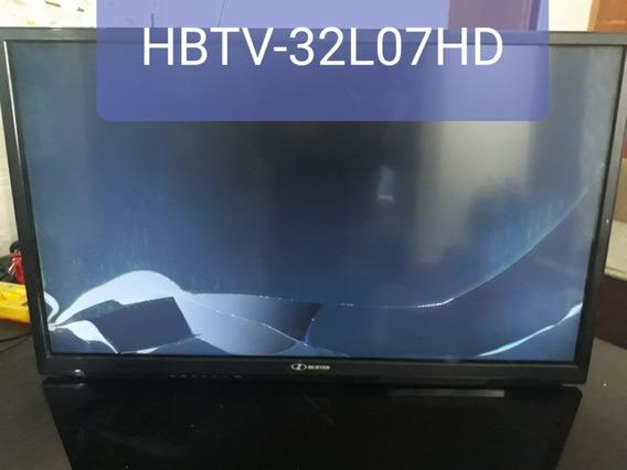 Tv Hbuster 32 C/tela Quebrada Ela Liga Mais Quebrou Tela