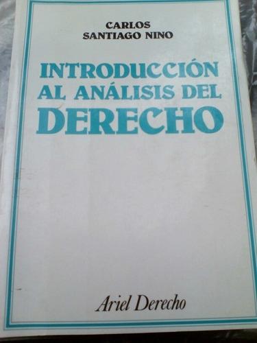 Imagen 1 de 3 de Introducción Al Análisis Del Derecho. Nino