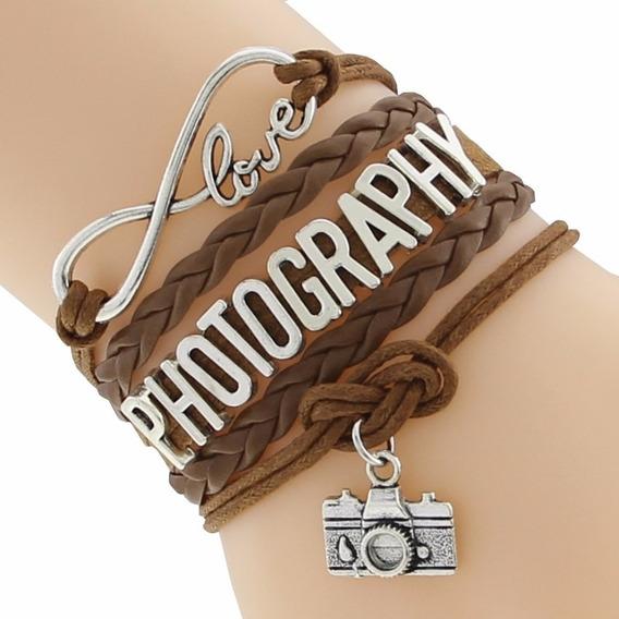 Pulseira Fotógrafo Fotografia Photography - Escolha A Cor