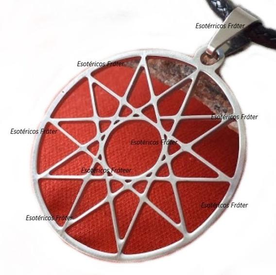 Cordão Mandala Estrela 10 Pontas Geometria Yod Cabala