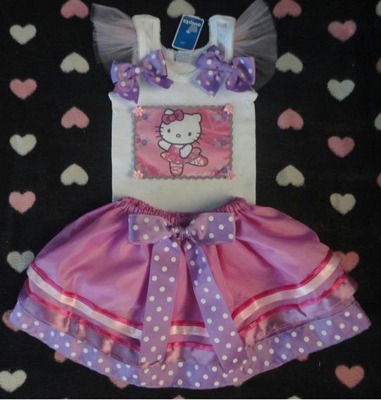 Conjunto Tutu Hello Kitty Para Niñas,somos Fabricantes