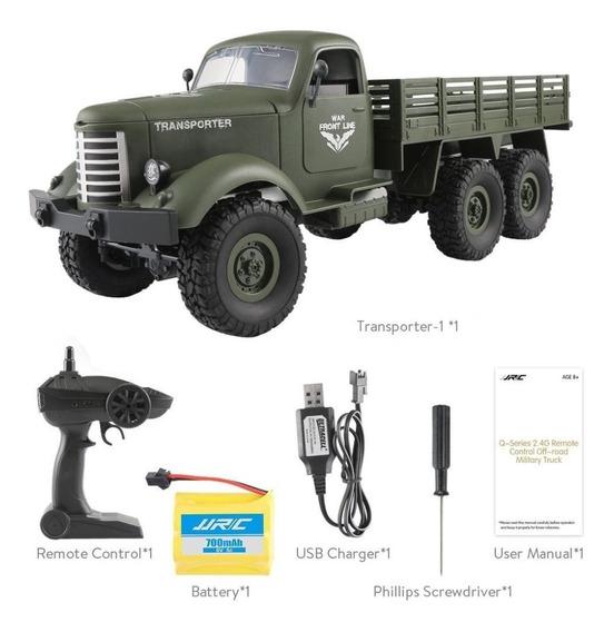 Caminhão Carro Controle Remoto Militar Exercito Jjrc Q60