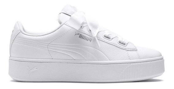 Zapatillas Mujer Moda Puma Vikky Plataforma Blanca - Moño