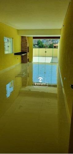 Cobertura Com 3 Dormitórios À Venda, 170 M² Por R$ 550.000,10 - Vila Curuçá - Santo André/sp - Co11182