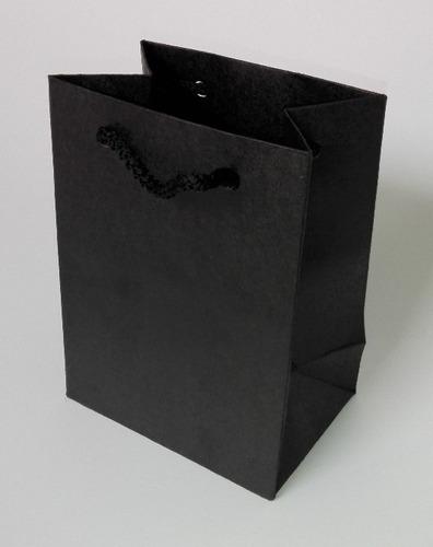 Bolsa Kraft Negra 20x15x6 Cm. (docena). Xinyangimport.