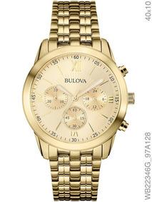 Relógio Bulova Feminino Dourado Aço Wb22346g