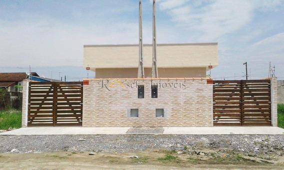 Casa Nova Com Terreno Muito Espaçoso Em Itanhaém -cod: 243 - V243