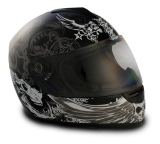Vcan V136 Graphic Full Face Casco Dark Angel Black Medium