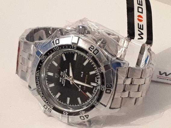 Relógio Masculino Anadigi Esporte Weide Wh-905 Preto