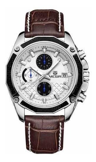 Relógio Masculino Couro Luxo