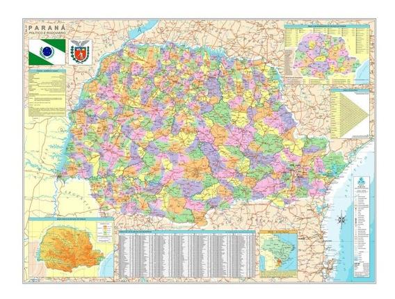 Mapa Politico Do Estado Do Parana-geomapas
