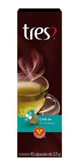 Chá De Erva Doce Três Corações Caixa Com 10 Cápsulas 2,5g
