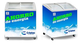 Congelador Tapa De Cristal Curvo 5 Pies Criotec