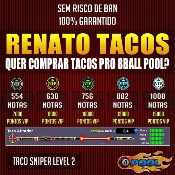 Taco Sniper + Notas 8 Ball Pool