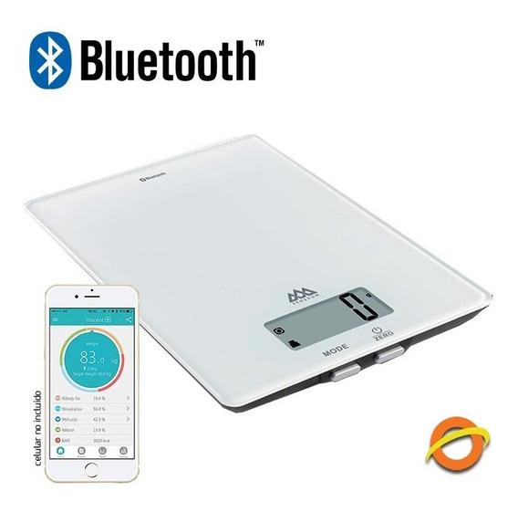 Balanza De Cocina Digital Bluetooth Vidrio Templado 1 Gramo