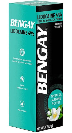 Pomada Bengay 85g Lidocaine 4% - Original - Não Oleosa
