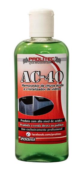 Ac40 Removedor De Chuva Ácida , Limpa Mancha De Vidros 200ml