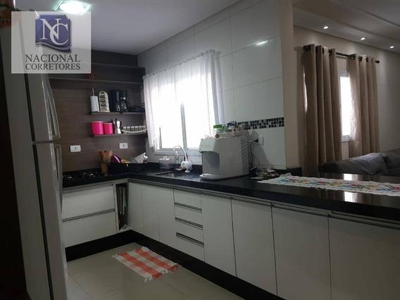 Cobertura Com 2 Dormitórios À Venda, 124 M² Por R$ 380.000 - Vila Camilópolis - Santo André/sp - Co4384