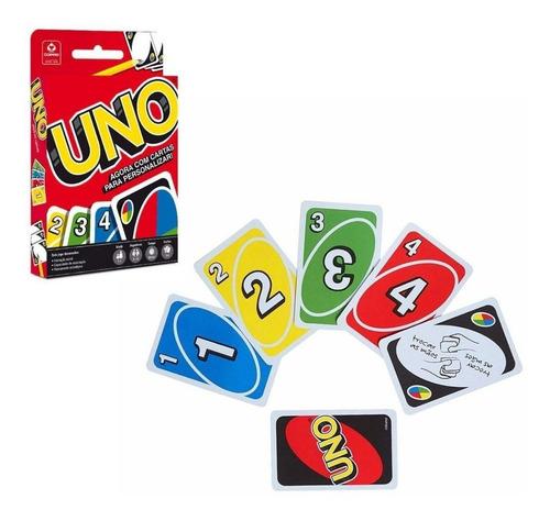 Jogo Carta Baralho Uno Copag Mattel Games 114 Cartas Can Can