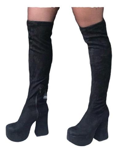 Botas Bucaneras Elastizadas Plataforma Mujer De Calzadosoher