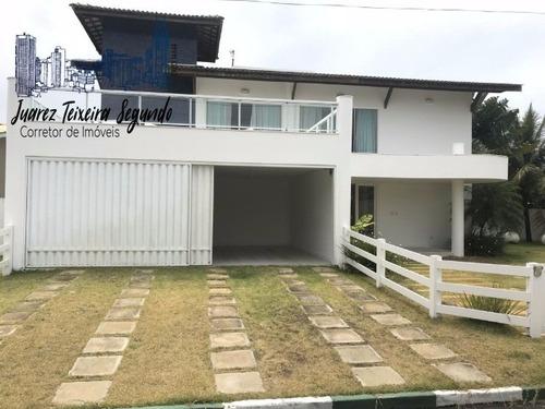 Casa 5 Suítes Em Guarajuba Alto Padrão Finamente Decorada A Poucos Metros Do Mar! - 02664 - 4922058