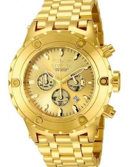 Relógio Invicta Reserve 14506 - Ouro 18k - Original - Novo