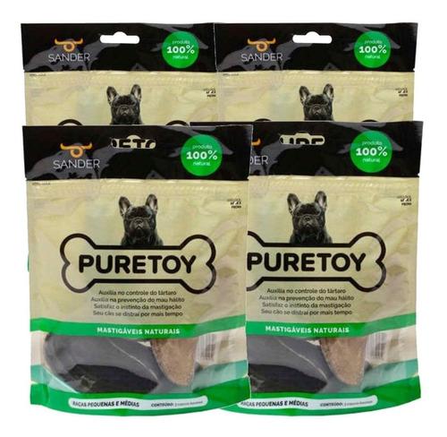 Brinquedo Cachorro Mordedor Kit 12 Cascos De Boi Puretoy