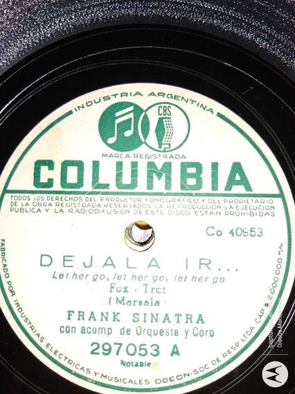 Disco Pasta 78 Rpm Frank Sinatra Columbia C109