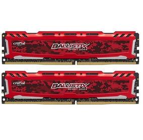 Memória 32gb ( 2x16gb ) Ddr4 2666mhz Crucial Ballistix Red