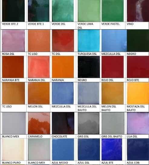 Azulejo Talavera Colores Lisos