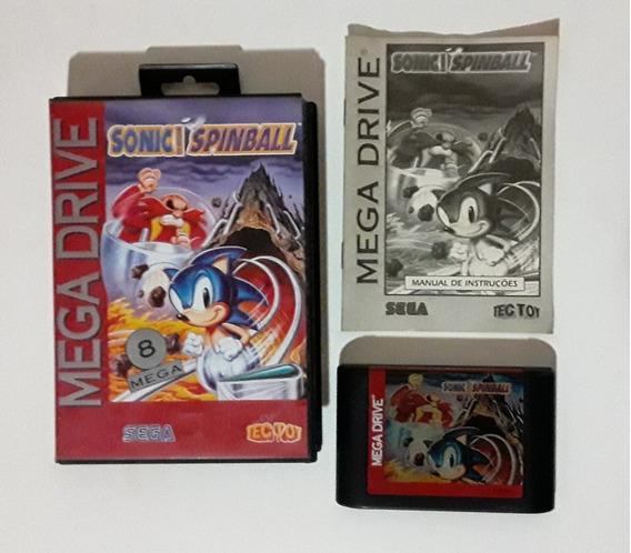 Sonic Spinball Cartucho Original Na Caixa Mega Drive