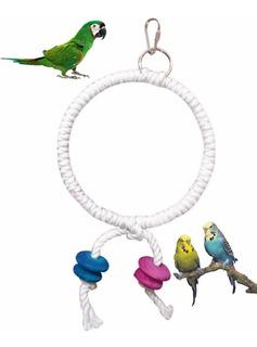 Juguete Aro De Cuerda Para Loros, Periquitos Y Aves