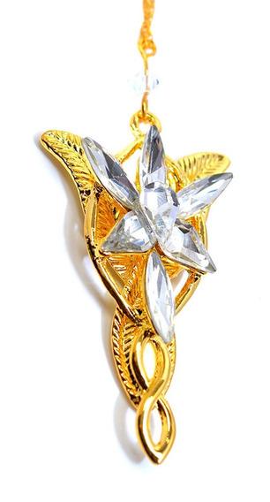 Arwen Collar Señor De Los Anillos Colgante Dorado Elfico