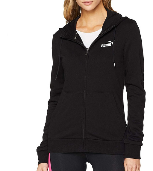 Puma Campera Mujer Ess Hooded Jacket Tr Negra - Moda
