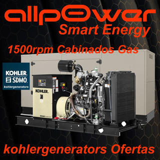 Grupo Electrogeno Kohler Gas 60 Rcl Cabinado T/ Generac Eeuu