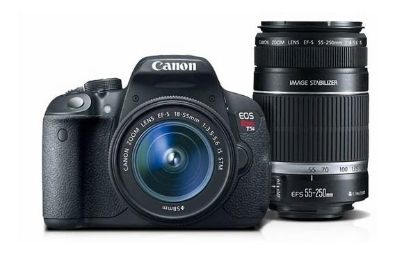 Canon T5i + Lente 18-55mm + Bolsa + Carregador