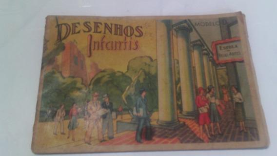Livro Antigo Desenhos Infantis Modelo D