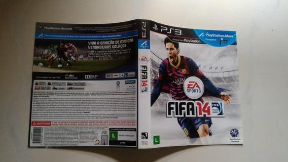 Encarte Fifa 14 Ps3 + Frete Carta Registrada