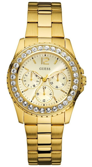 Reloj Marca Guess Dorado Para Dama