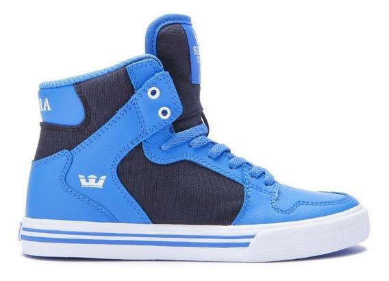 Zapatilla Supra Vaider Kids Blue Bla (hablar Al Vendedor)