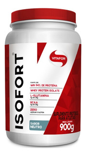 Isofort Whey Protein Isolado 900g - Vitafor 100% Original