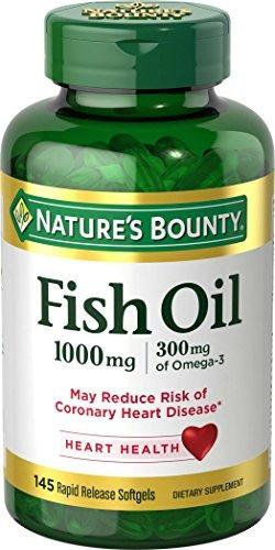 Aceite De Pescado Nature's Bounty Omega-3 1000 Mg Softgels 1