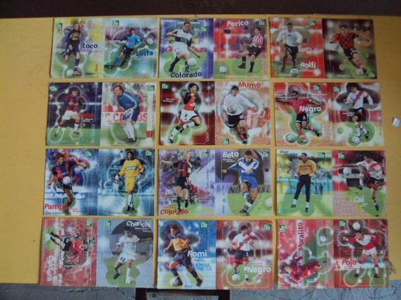 Lote X32 Postales Del Futbol Ole