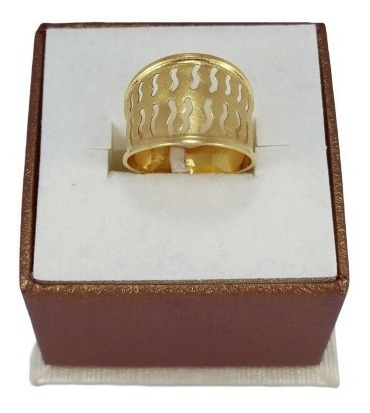 Barato!! Anel Love New Look Star Em Ouro 18k 4764