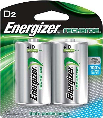 Imagen 1 de 7 de Energizador Pilas Recargables Nh50bp2 D Verde Y Plateado 1 1