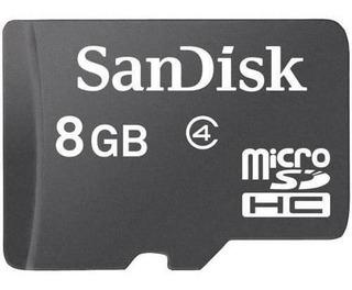 Cartão De Memória Sandisk 8gb Micro Sd Com Adaptador Sd Card