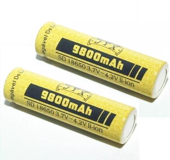 Kit Com 2 Bateria Lítio Recarregável 18650 4.2v 9800mah