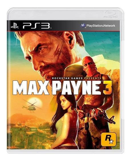 Max Payne 3 Ps3 Mídia Física Pronta Entrega