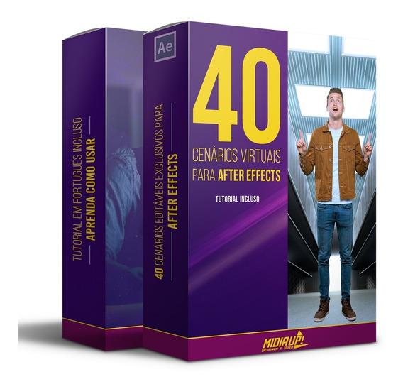 40 Cenários Editáveis Para After Effects Full Hd + Tutorial