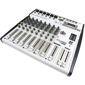 Mesa De Som Profissional Mixer 8 Canais Staner Mx0803 Usb